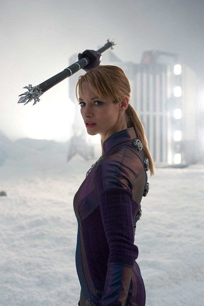 Evil Jill Valentine played by Sienna Guillory. Excited to see this movie!