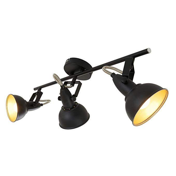 Deckenleuchte Julin Schwarz Gold Lampenwelt Deckenlampe Wandleuchte Strahler