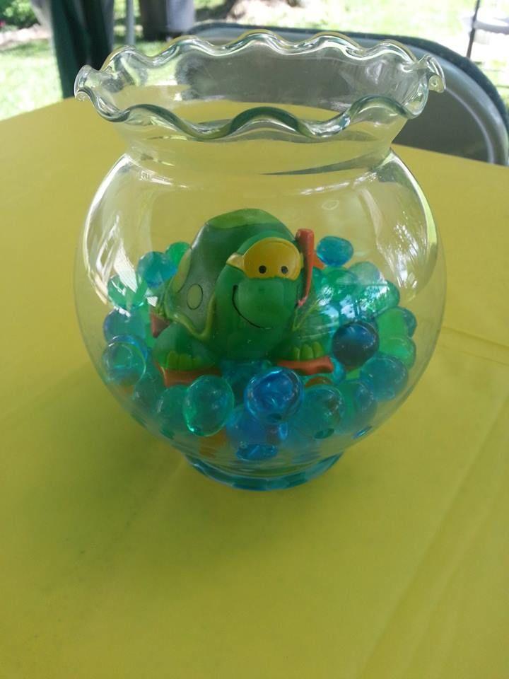 Turtle Baby Shower Center Piece
