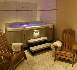 Indoor hot tub works well also!
