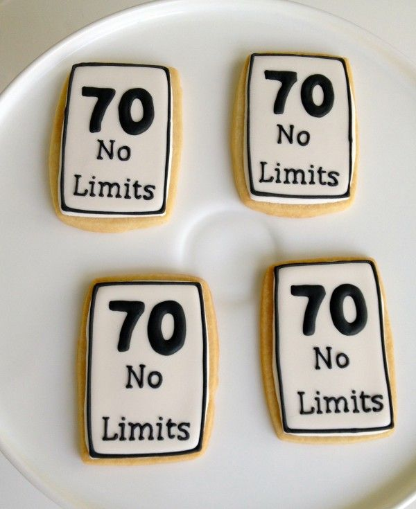 70 Th Birthday Cookies
