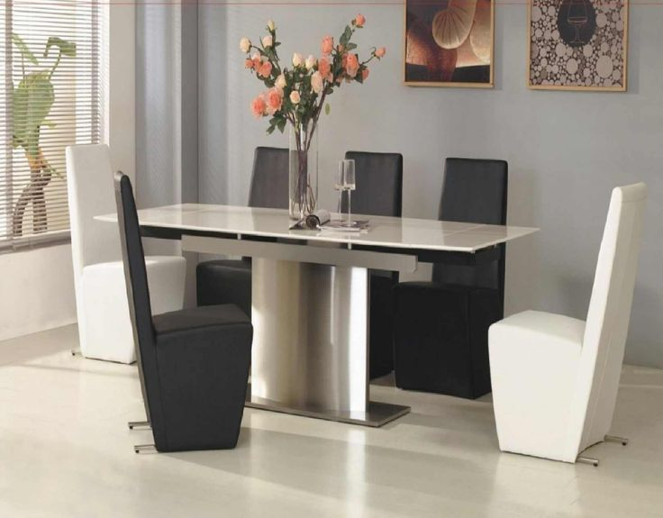 White Modern Dining Room Sets 25 best modern dining table furniture designs images on pinterest