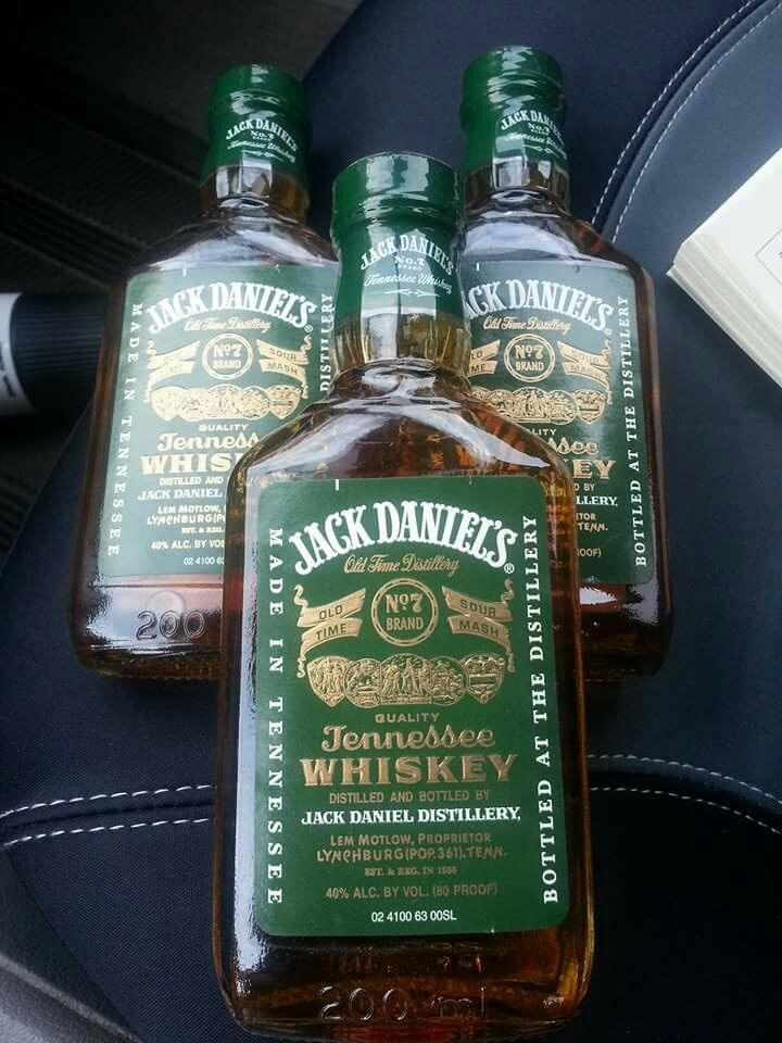 The rare, hard to find, green label Jack Daniels
