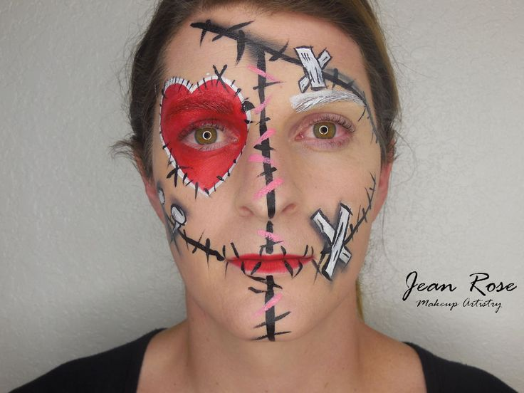 Voodoo Doll Face Painting - Google Search | Halloween ...