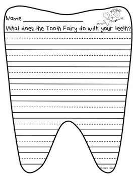 Tooth-Fairy-Creative-Writing-Paper-and-Prompt-1696139 Teaching Resources - TeachersPayTeachers.com
