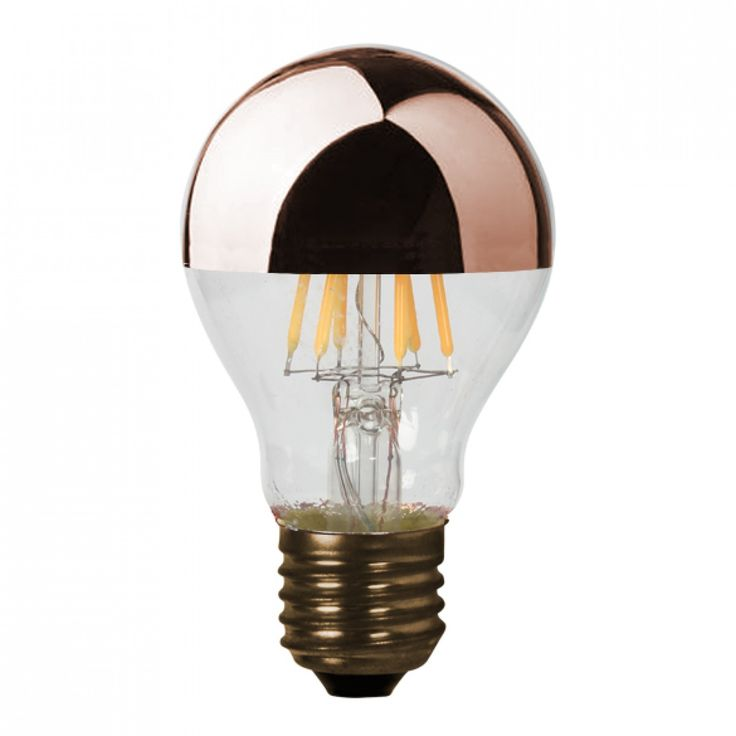 Ampoule rétro classique LED dimmable (D.6cm) calotte cuivrée (E27)