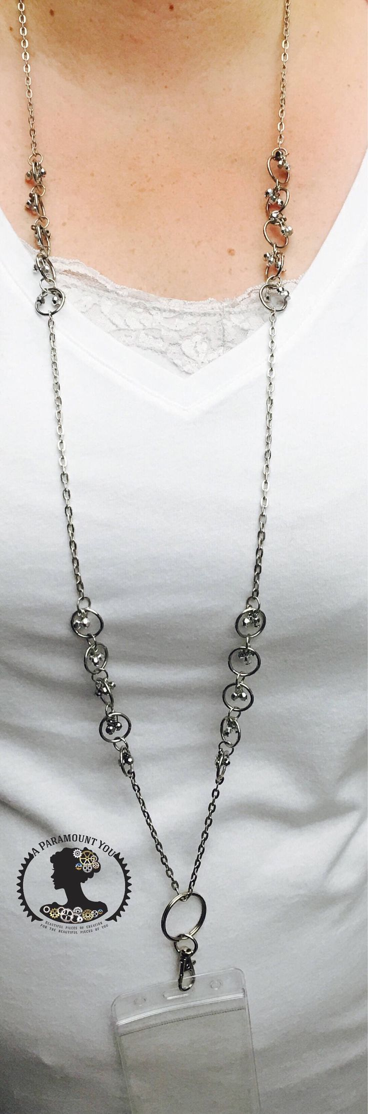 A personal favorite from my Etsy shop https://www.etsy.com/listing/541658059/metallic-fashion-lanyard-necklace-id