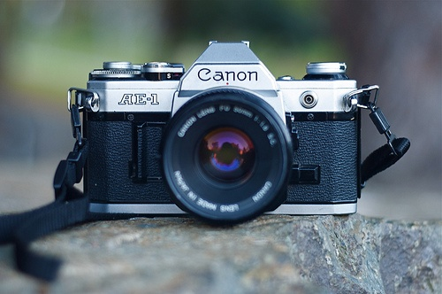 The Canon AE-1 ... Workhorse in the photography field for years - I still have mine!