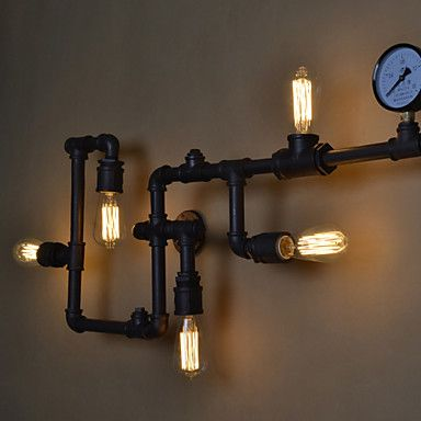 Loft Industrial Wall Lamps Antique Edison Lights With Bulbs E26 E27 Vintage Pipe Lamp For Living Room Lighting