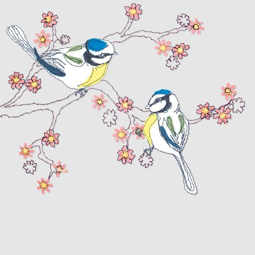 Claire Coles - i like this images because the detail is very clear but very simple, the bird doesn't look like it is finished but this makes the birds stand out from the flowers and branches