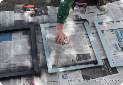 Tutorial: How to Spray Paint Picture Frames