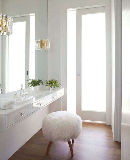 Sally Markam featured in House Beautiful June 2011 - white dressing room                                                                                                                                                                                 More