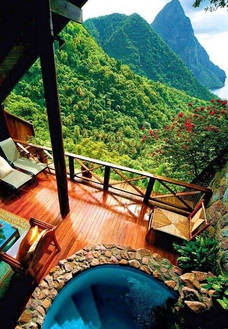 With fabulous views of The Pitons, top notch service and lovely airy suites, each with an omitted fourth wall, Ladera is a great choice for a grown-up getaway in the #Caribbean.