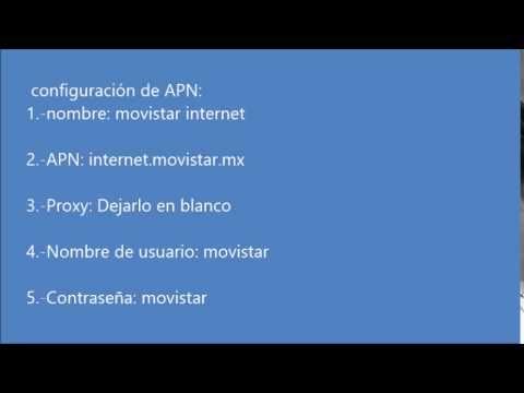 Internet Gratis Con APN Movistar Para Windows Phone - YouTube