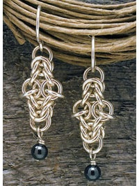 Oh La La by Stephanie Everette. Chain maille earring making project available for instant download in the Beading Daily Shop!  http://shop.beadingdaily.com
