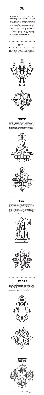 Hindu Deities. Project by Jacek Janiczak from Poland