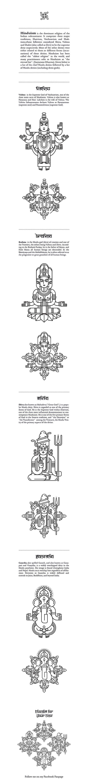 Hindu deities by Jacek Janiczak, via Behance
