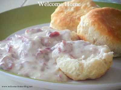Welcome Home: Creamed Chipped Beef Over Buttermilk Biscuits