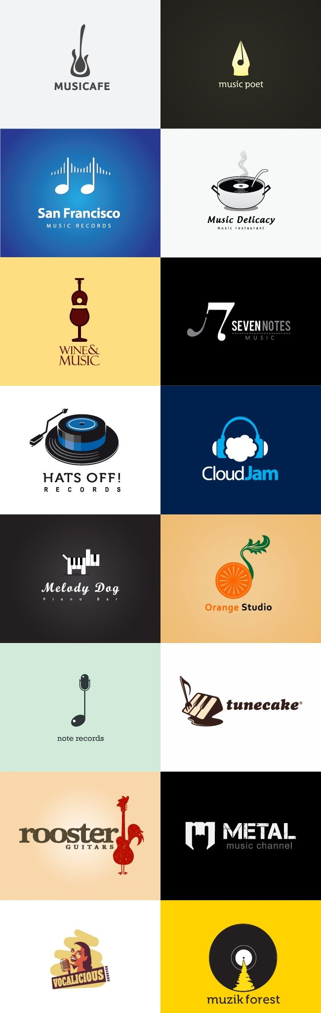 30 inspirational music logo designs see more wanna see what i got and how s everyone s summer going so far only 16