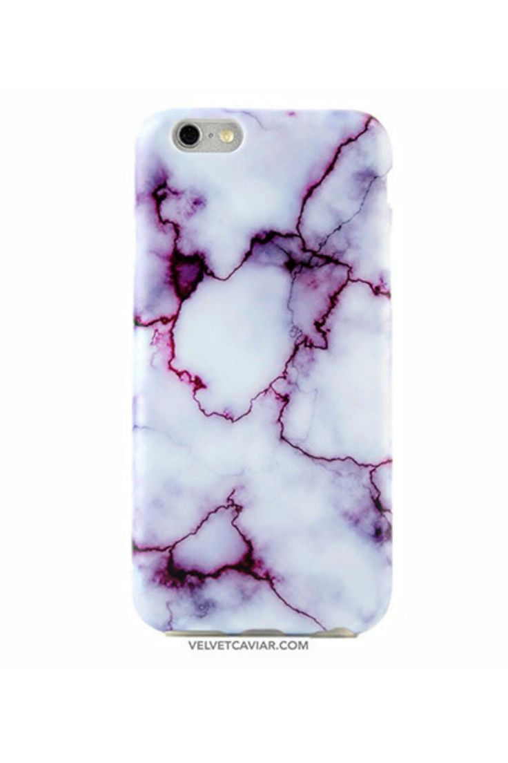 Protective purple marble phone case for an elegant look. Full Protection:Comes with full 360 degree bumper protection with access to all ports as well as a front raised lip to protect your phone screen. High Quality:Made with the best TPU material resulting in a soft, durable, and flexible finish for your phone. Custom Design:A one of a kind design crafted by our artists in NYC then layered on top of high grade matte TPU material.   Purple Marble Iphone6 Case by Velvet Caviar. Accessories…