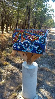 Mosaic Mailbox by Hill Country Handmade