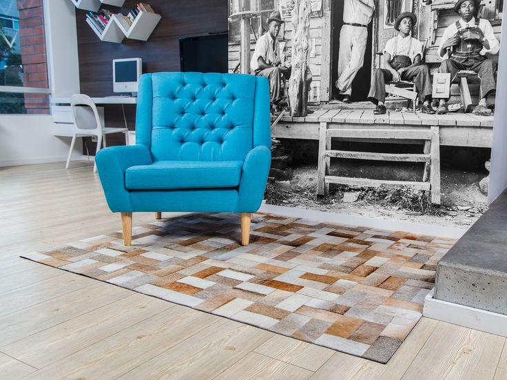 Tapete Gyr beige - Rug Beige. Patchwork leather rug. Simple and nice!! Tapetes en Cuero