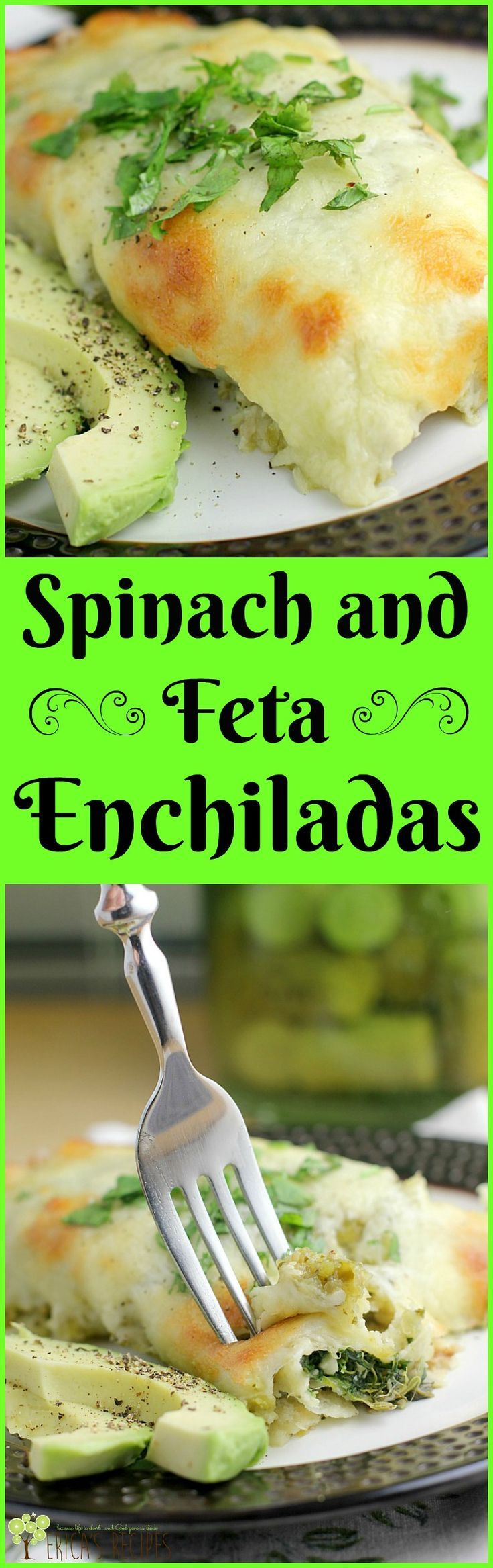 Spinach and Feta Enchiladas http://wp.me/p4qC4h-3yj