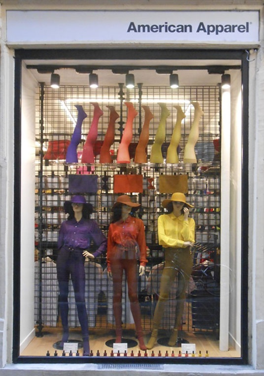 Color Block Display For Fall In The Window Of Our Store In Toulouse, France.
