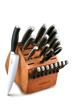 Calphalon  21-Pc. No-Stain Steel Cutlery Set - Black - One Size