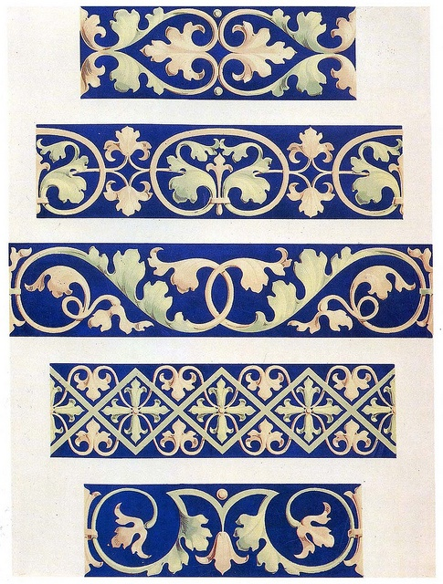 Foliate decorative borders 13th century by Design Decoration Craft, via Flickr