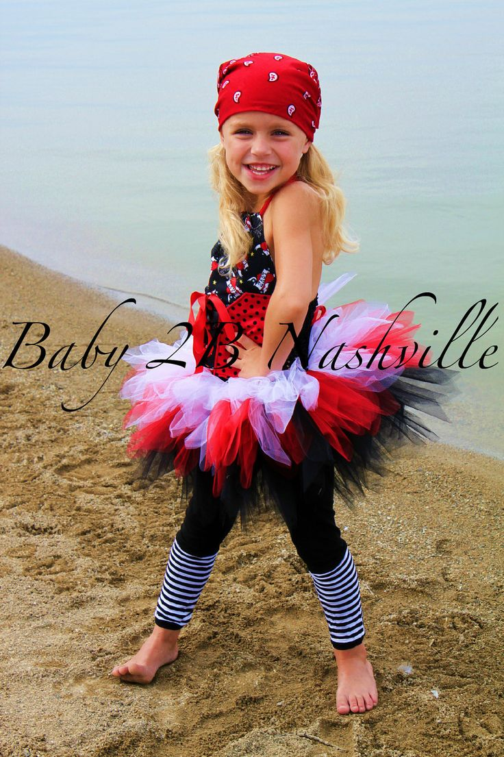 Baby Pirate Tutu Costume up to 2T. $76.00, via Etsy.
