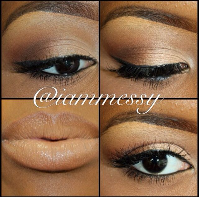 Eye & Lip Tutorial -- All Mac Cosmetics  Eyes: Crease - Brown Script & Saddle  Over V - Brown Down & Espresso  Inner to Mid Lid - Arena Brow Highlight - Rice Paper  Lip: Lip Liner - Cork Lipstick - Swiss