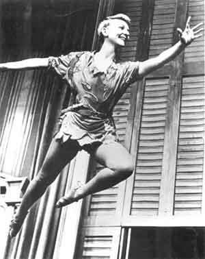 Larry Hagman's mother Mary Martin as Peter Pan