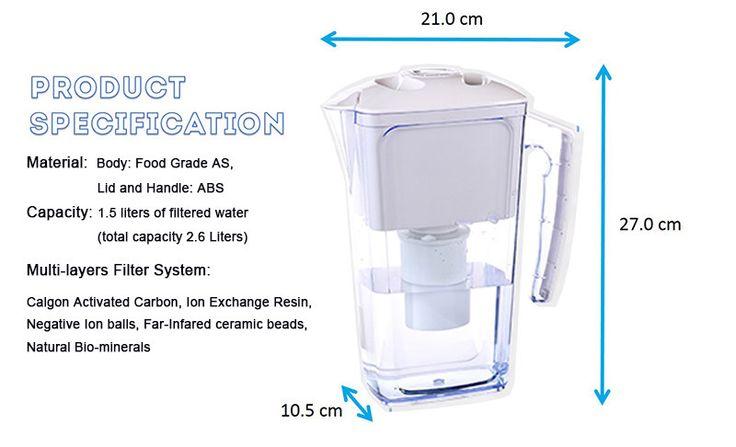 Alkaline Water Ionizer Pitcher 2.5L