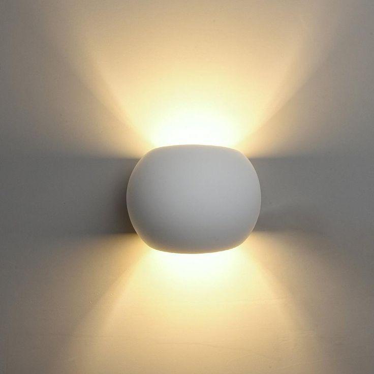 Wall Light Uplighter Downlighter Led Lamp Ceramic Warm White