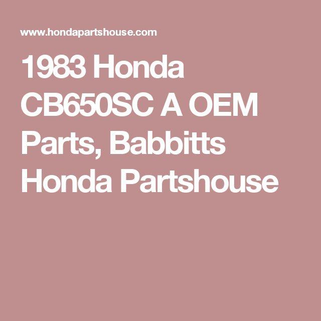 1983 Honda CB650SC A OEM Parts, Babbitts Honda Partshouse
