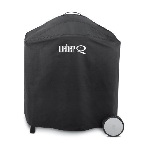 Constructed of heavy-duty vinyl for optimal durability, this premium grill cover protects the Weber Q300 from the elements year in and year out. The full-le