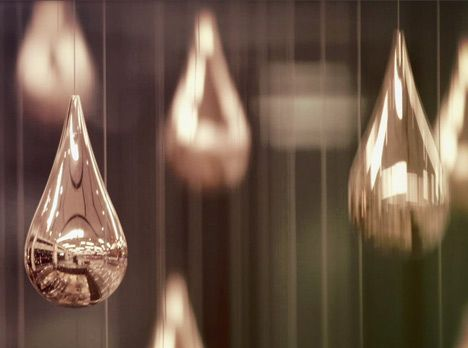 « Newer story Older story » Kinetic Rain  by ART+COM  inShare 6 19 July 2012 | 10 comments More: DesignInstallationsMovies  German design collective ART+COM have installed over a thousand rising and falling metal raindrops in Singapore's Changi Airport (+ movie).