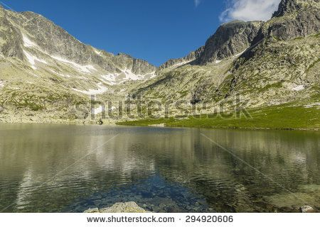 Ridge visible from the pond in the Tatras Mountains in Slovakia