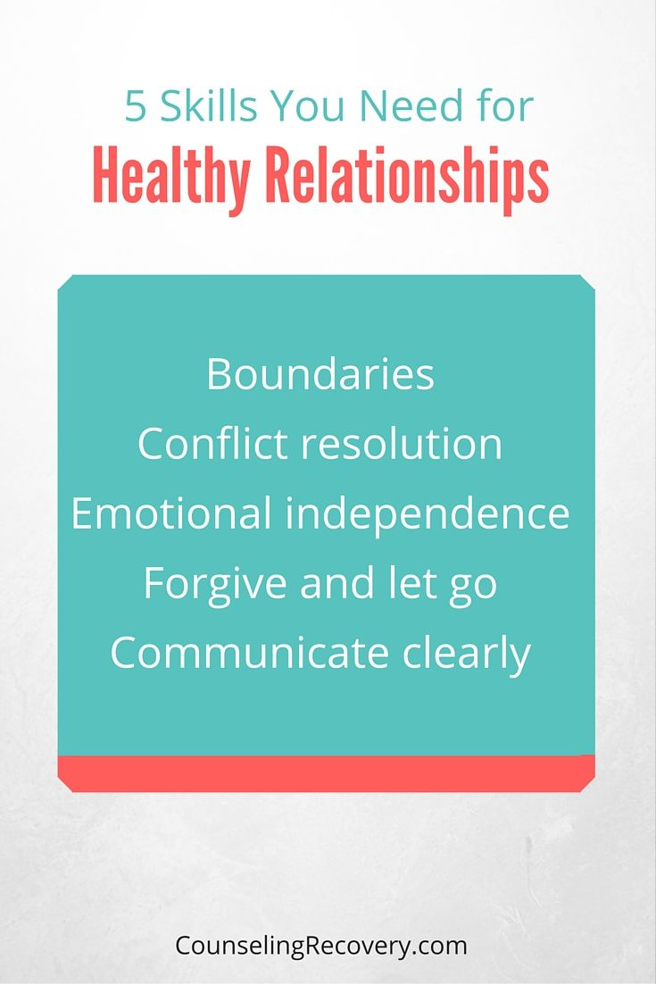 Healthy relationships takes practice and lots of skill. Setting appropriate boundaries by choosing what you participate in increases self-care. Handing conflict by staying on your side of the street and avoiding blame helps. Having your own support system and not booming overly dependent on others keeps your dignity. Communicating hurts then forgiving means you can still enjoy the relationship.