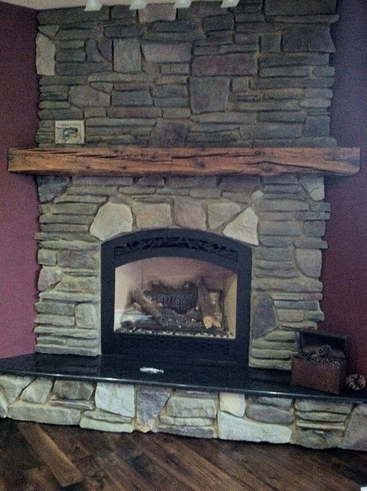 Used An Old Barn Beam For The Mantel Home Home