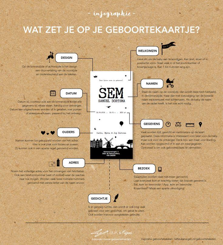 Infographic, wat zet je op je geboortekaartje? Lief Leuk en Eigen