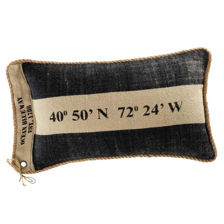 Cuscino in tela di iuta 35 x 55 cm COMPASS