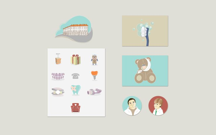 Иллюстрации для сайта частной стоматологии #gorillabrand #иллюстрации #персонажи #дизайн