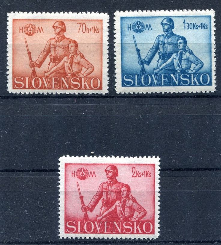 SLOVAKIA WW2 GERMAN PUPPET STATE 1942 HLINKA GUARD SCOTT B8-10 PERFECT MNH  | eBay