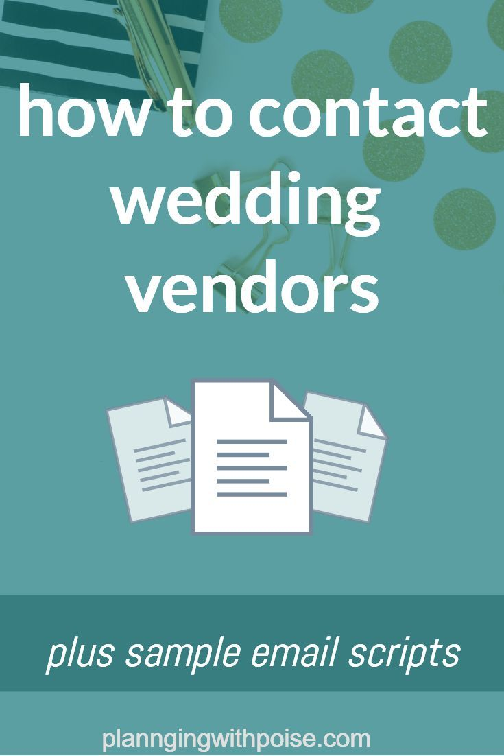Email Is The Best Way To Shop For Your Wedding Vendors Because It S Fast Easy And Stress Free Weddin Wedding Vendors How To Memorize Things How To Plan