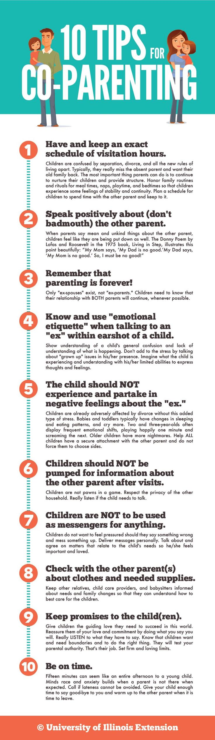 10 Tips For Co Parenting