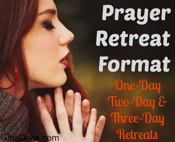 Looking to host a Prayer Retreat? Here are some one-day, two-day and three-day format ideas.  There is even a great book to use for a prayer journaling workshop!  Click and go to GinaDuke.com.