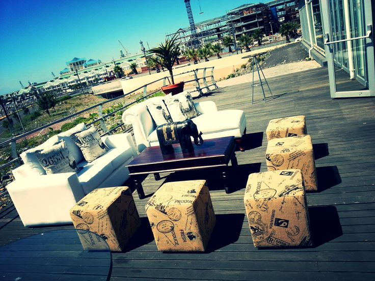 Wedding at The Lookout in V&A Waterfront. Decor by XL Events.