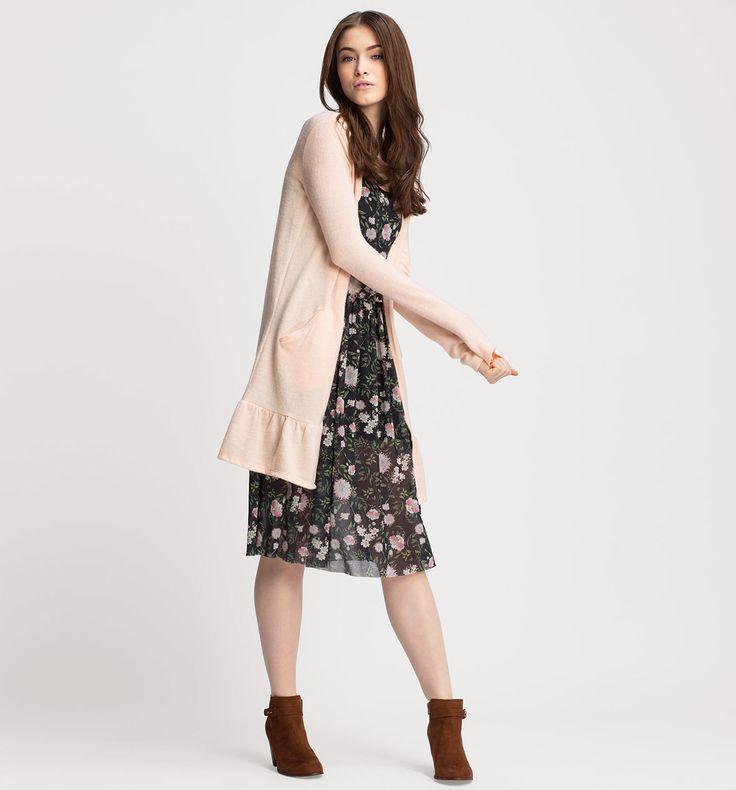 L2017 Sklep internetowy C&A | Sweter rozpinany, kolor:  morelowy | Dobra jakość w niskiej cenie